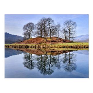 Cartão Postal Reflexões de Brathay do rio, o distrito do lago