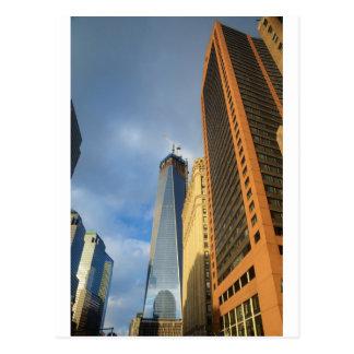 Cartão Postal Reflexões do arranha-céus de New York