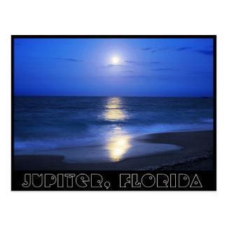 Cartão Postal Reflexões do luar de Jupiter, Florida