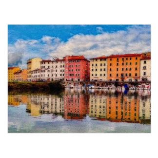 Cartão Postal Reflexões do porto (pintadas)