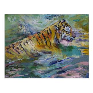 Cartão Postal Reflexões do tigre