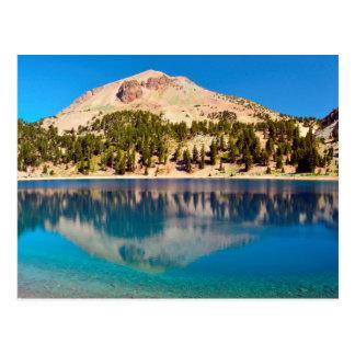 Cartão Postal Reflexões no lago Helen, Lassen vulcânico