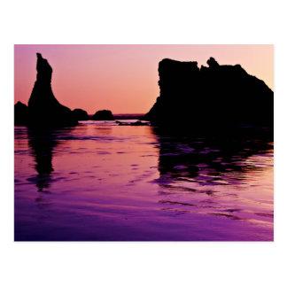 Cartão Postal Reflexões rochosas - Bandon, Oregon
