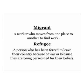 Cartão Postal Refugiados emigrantes