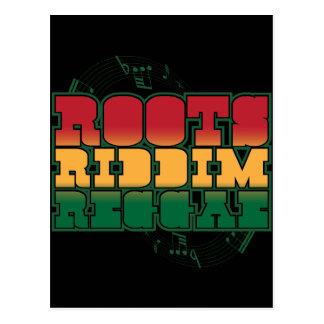 Cartão Postal Reggae de Riddim das raizes