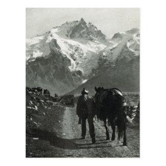 Cartão Postal Região de Jungfrau da suiça do vintage