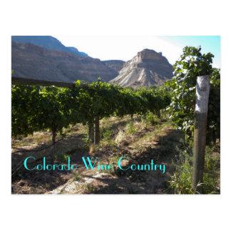 Cartão Postal Região vinícola de Colorado