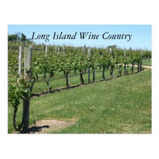 Cartão Postal Região vinícola de Long Island