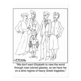 Cartão Postal Regime da leitura das tragédias gregas