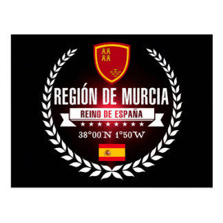 Cartão Postal Región de Múrcia
