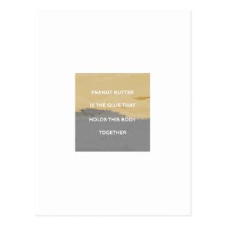 Cartão Postal Regras da manteiga de amendoim