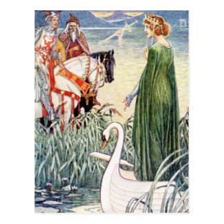 Cartão Postal Rei Arthur e a senhora do lago