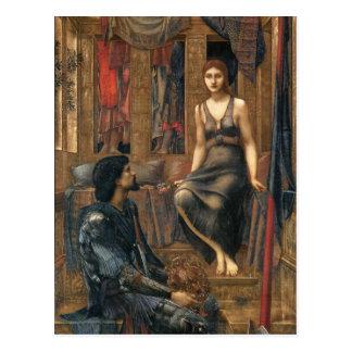 Cartão Postal Rei Cophetua e empregada doméstica do mendigo