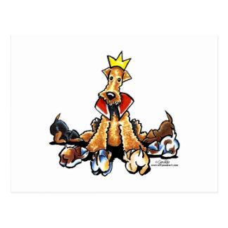 Cartão Postal Rei de Airedale dos terrier