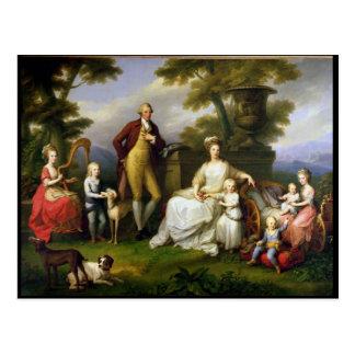 Cartão Postal Rei de Ferdinand IV de Nápoles, e sua família