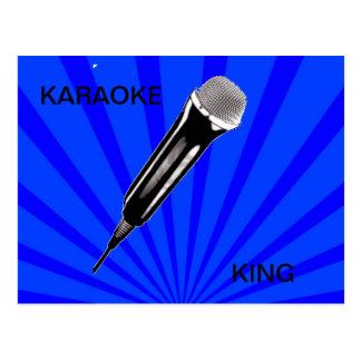 Cartão Postal Rei do karaoke