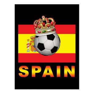 Cartão Postal Rei Futebol da espanha 9bceff086a6e3