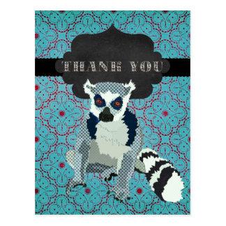 Cartão Postal Rei Jules Cerceta Ornamentado Agradecimento você
