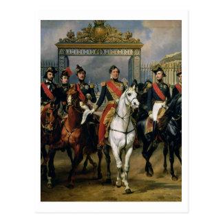 Cartão Postal Rei Louis-Philippe (1773-1850) de France e de seu