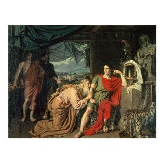 Cartão Postal Rei Priam que implora Achilles pelo retorno de