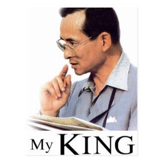 Cartão Postal Rei tailandês Bhumibol Adulyadej
