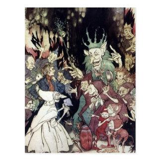 Cartão Postal Rei Troll Ilustração de Arthur Rackham