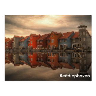 Cartão Postal Reitdiephaven, Groningen, Países Baixos