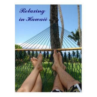 Cartão Postal Relaxamento em Havaí