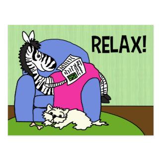 Cartão Postal Relaxe!