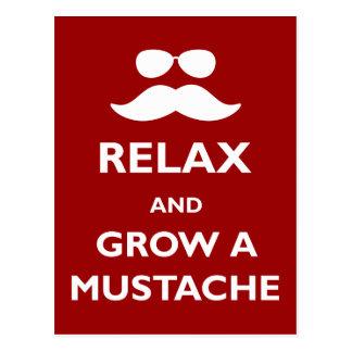 Cartão Postal Relaxe e cresça um bigode