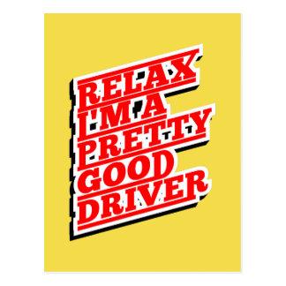 Cartão Postal Relaxe-me são um relativamente bom motorista