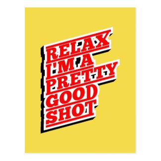 Cartão Postal Relaxe-me são um relativamente bom tiro