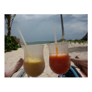 Cartão Postal Relaxe na praia