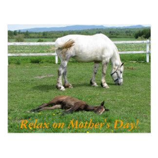 Cartão Postal Relaxe no dia das mães!