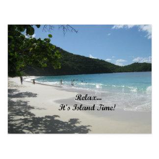 Cartão Postal Relaxe-o… é tempo da ilha!