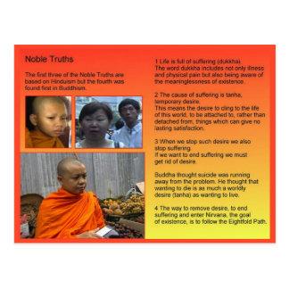 Cartão Postal Religião, budismo, verdades nobres