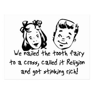 Cartão Postal Religião da fada de dente
