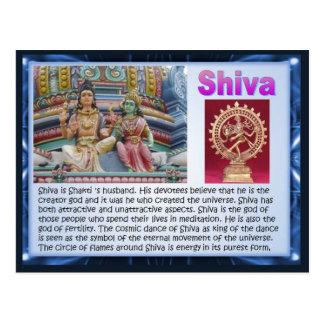 Cartão Postal Religião, deuses Hindu indianos, Shiva