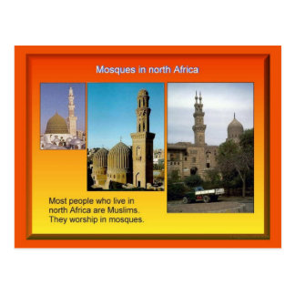 Cartão Postal Religião, Islão, mesquitas africanas nortes