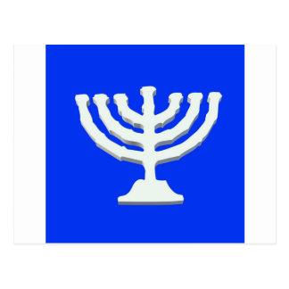 Cartão Postal religião Israel do menorah do yarmulke do castiçal