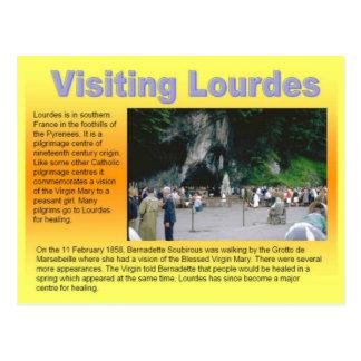 Cartão Postal Religião, Lourdes de visita