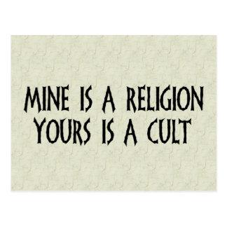 Cartão Postal Religião ou culto?