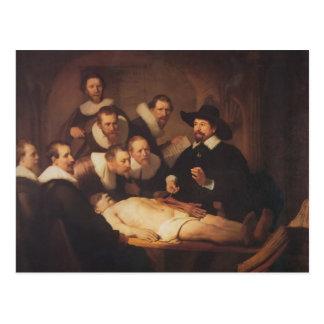Cartão Postal Rembrandt a lição da anatomia do Dr. Nicolaes Tulp