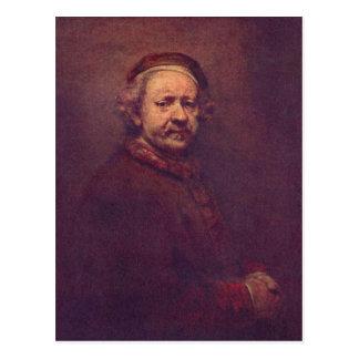 Cartão Postal Rembrandt Harmensz. camionete Rijn Selbstportr? t