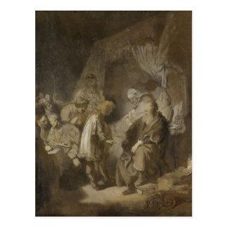 Cartão Postal Rembrandt, Joseph que diz seus sonhos