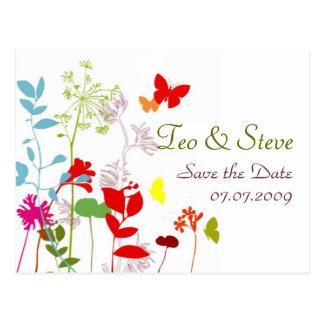 Cartão Postal Remoção de ervas daninhas da borboleta do