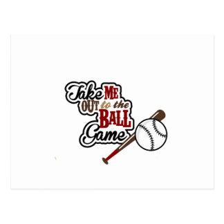 Cartão Postal Remova-me ao design de jogo de bola