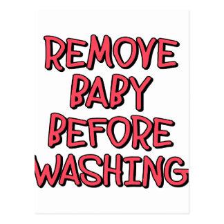 Cartão Postal remova o bebê antes de lavar, engraçado