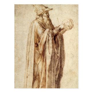 Cartão Postal Renascimento do vintage, filósofo por Michelangelo