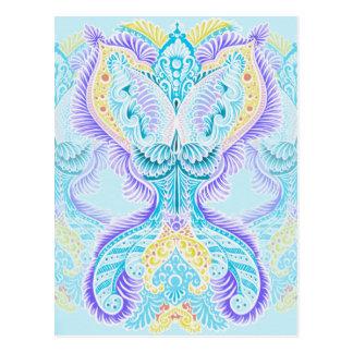 Cartão Postal Renascimento, idade nova, meditação, boho, hippie